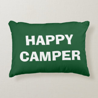 HAPPY CAMPER throw pillow for camping or RVing