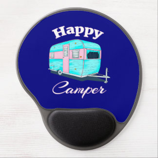 Happy Camper Trailer Camping Gel Mouse Pad