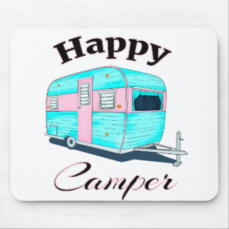 Happy Camper Trailer Camping Mouse Pad