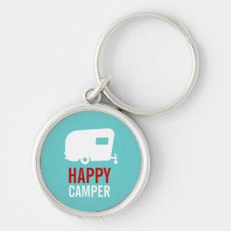 Happy Camper - Vintage RV Camping Keychain