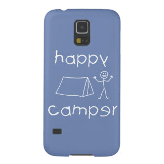 Happy Camper (wht) Cases For Galaxy S5
