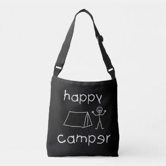 Happy Camper (wht) Crossbody Bag
