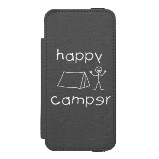 Happy Camper (wht) Incipio Watson™ iPhone 5 Wallet Case