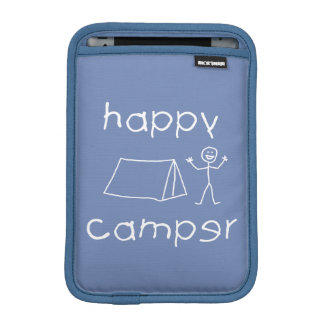 Happy Camper (wht) iPad Mini Sleeve