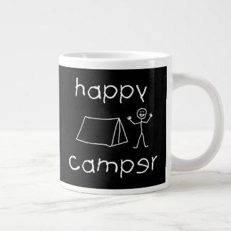 Happy Camper (wht) Large Coffee Mug