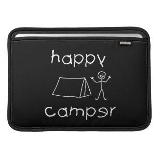 Happy Camper (wht) MacBook Sleeve