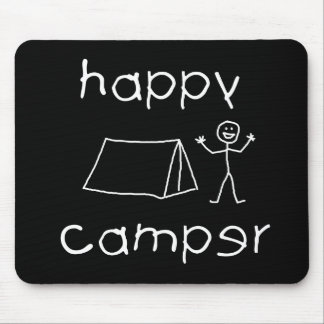 Happy Camper (wht) Mouse Pad