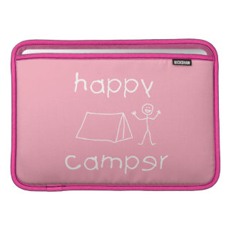 Happy Camper (wht) Sleeve For MacBook Air