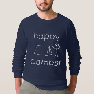 Happy Camper (wht) Sweatshirt