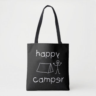 Happy Camper (wht) Tote Bag
