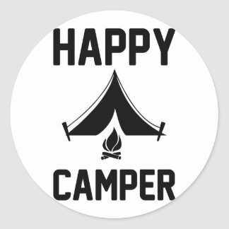 Happy Campers Classic Round Sticker
