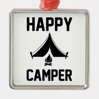 Happy Campers Metal Ornament