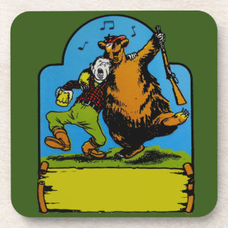 Happy Campers Personalized Beverage Coasters