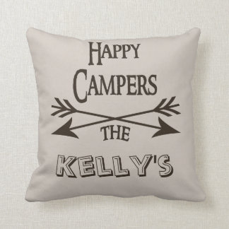 Happy Campers Personalized Pillow