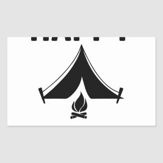 Happy Campers Rectangular Sticker