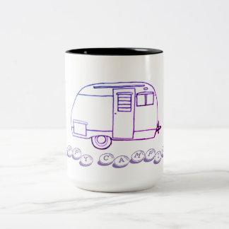 Happy camping fun mug