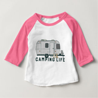 Happy camping life with cute Frenchies Baby T-Shirt