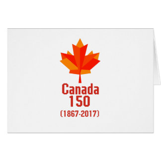 Happy CANADA 150 Years  Canadian Flag Cool Card