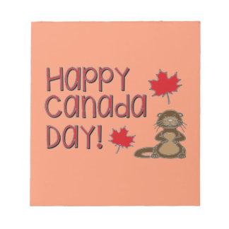 Happy Canada Day 3 Notepad