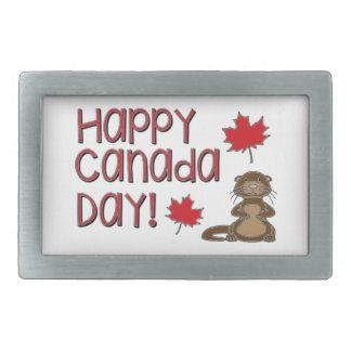 Happy Canada Day 3 Rectangular Belt Buckle