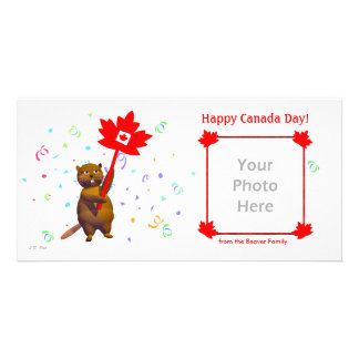 Happy Canada Day Beaver Personalized Photo Card