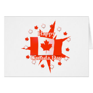 Happy Canada Day Flag Design Card