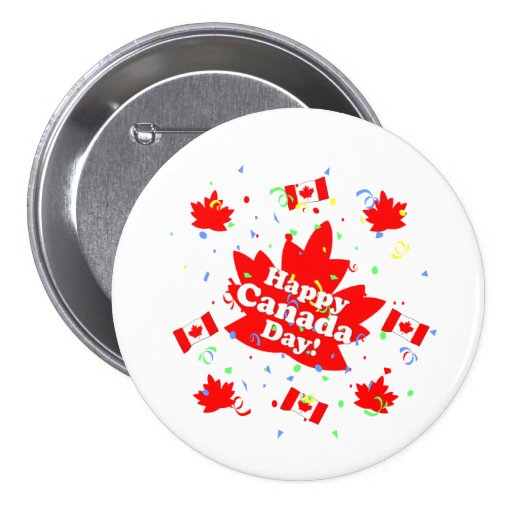 Happy Canada Day Party Button