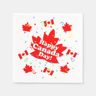 Happy Canada Day Party Disposable Napkins