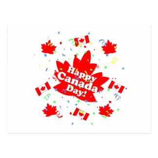 Happy Canada Day Party Postcard