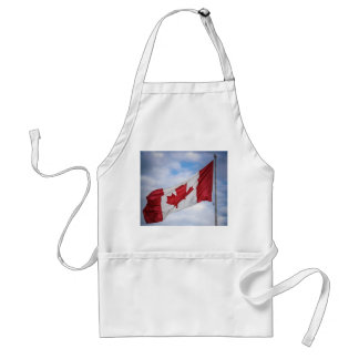 Happy Canada Day Red and White Canadian Flag Aprons