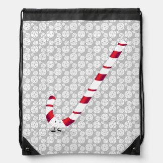Happy Candy Cane Drawstring Bag