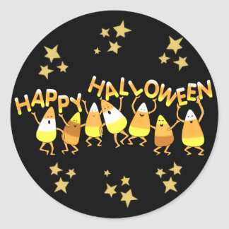 Happy Candy Corn Halloween Stickers