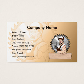 Happy Carpenter Business Card