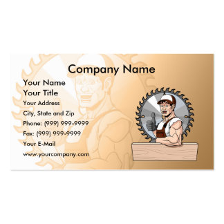 Happy Carpenter Pack Of Standard Business Cards