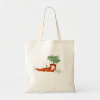 Happy carrot tote bag