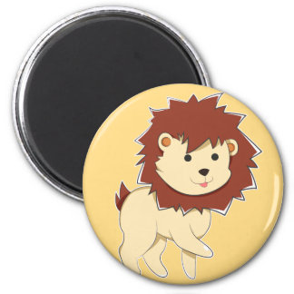 Happy Cartoon Baby Lion Magnet