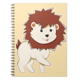 Happy Cartoon Baby Lion Notebooks