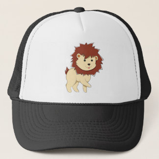 Happy Cartoon Baby Lion Trucker Hat