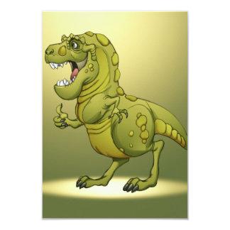 "Happy Cartoon Dinosaur Giving the Thumbs Up! 3.5"" X 5"" Invitation Card"