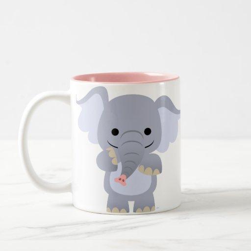 Happy Cartoon Elephant Mug