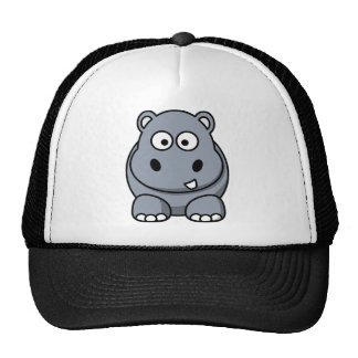 Happy Cartoon Hippo Hat