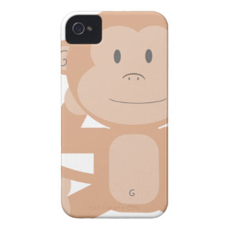 Happy Cartoon Monkey iPhone 4 Case-Mate Case