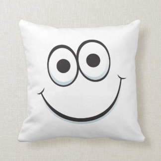 Happy cartoon smiley face funny custom pillow