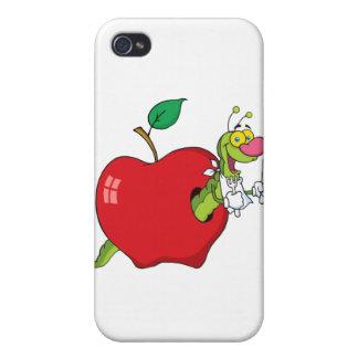Happy Cartoon Worm In Apple iPhone 4 Cover