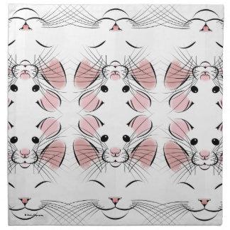 Happy Cat and Rat art on Napkins