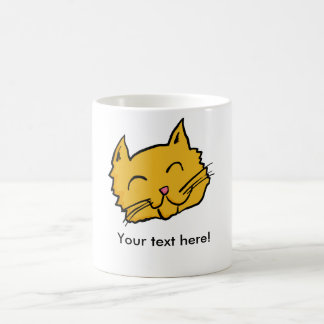 Happy Cat Button Coffee Mug
