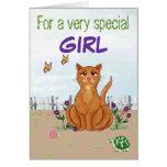 Happy Cat - Customisable Birthday Card