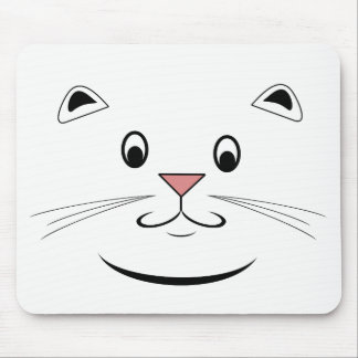 Happy Cat Face Mousepads