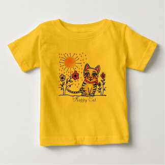 Happy cat t shirt