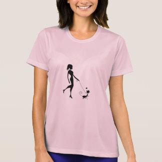 Happy cat walking on a leash T-Shirt